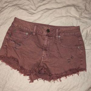 American Eagle Dusty Pink Jean Shorts